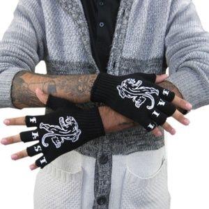 Panthers Fingerless Work Gloves Live Fast Bin2
